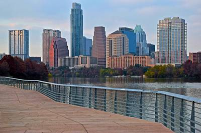 Photograph - Lady Bird Walkway In Austin Texas by Frozen in Time Fine Art Photography