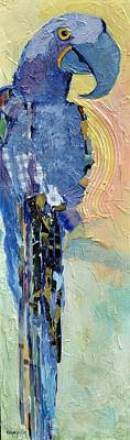 Lady Blue Art Print