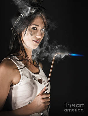 Welding Photograph - Lady Boilermaker At Work by Jorgo Photography - Wall Art Gallery