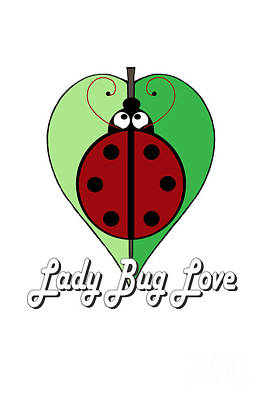 Digital Art - Lady Bug Love by Alycia Christine