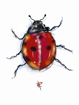 Good Luck Digital Art - Lady Bug by Russell Pierce