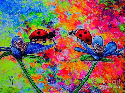 Painting - Lady Bugs by Viktor Lazarev