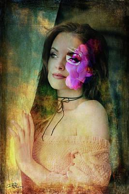 Digital Art - Lady By The Window by Ricardo Dominguez