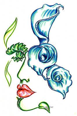 Lady Calli Lilly Art Print by Judith Herbert