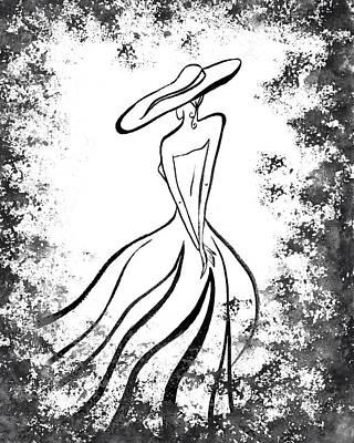 Lady Charm Art Print by Irina Sztukowski