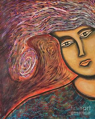 Sacred Feminine Painting - Lady Compassion by Kathy Stanley