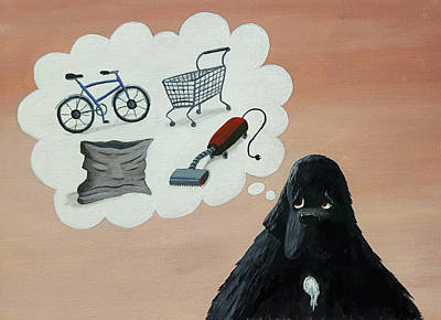 Painting - Lady Considers Her Phobias by Dave Rheaume