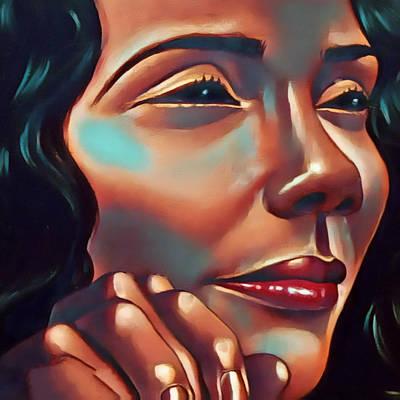 Digital Art - Lady Coretta by Karen Showell