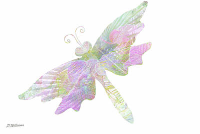 Dragon Fly Digital Art - Lady D Fly by Pamela Williams