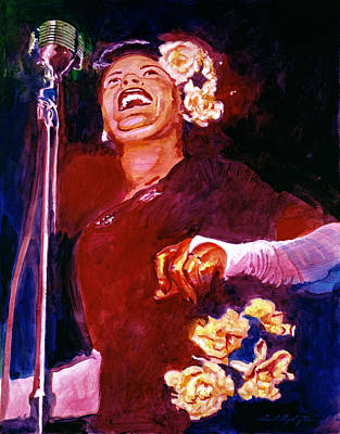 Lady Day - Billie Holliday Art Print by David Lloyd Glover