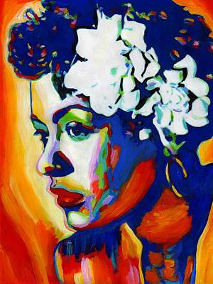 Harlem Painting - Lady Day by Vel Verrept