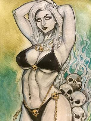 Painting - Lady Death by Jimmy Adams