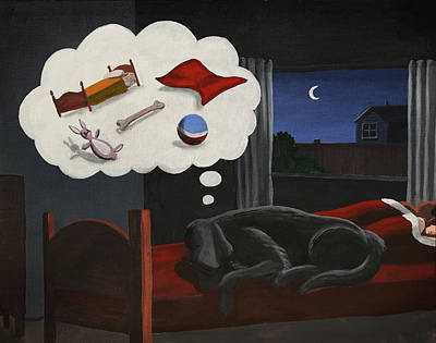 Painting - Lady Dreams About Her Favourite Things by Dave Rheaume