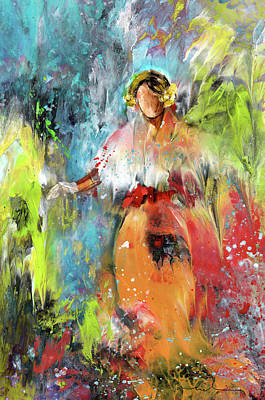 Painting - Lady Edith by Miki De Goodaboom