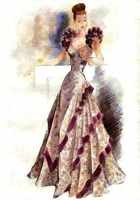 Digital Art - Lady Elegance by Charmaine Zoe