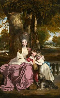 Lady Elizabeth Delme And Her Children Print by Sir Joshua Reynolds