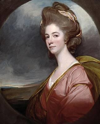 Lady Emilia Kerr Art Print by George Romney