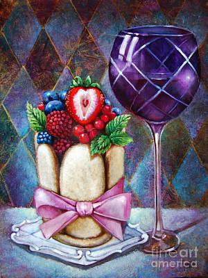 Lady Finger Tower Dessert Art Print by Geraldine Arata