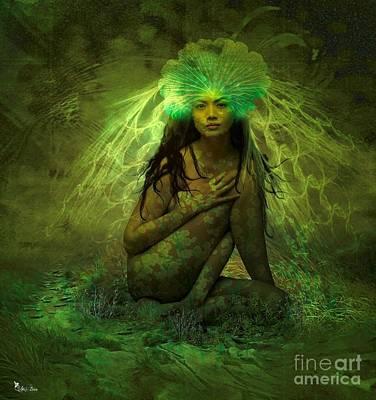 Digital Art - Lady Firefly by Ali Oppy