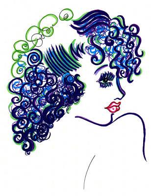 Lady Flirting Art Print by Judith Herbert