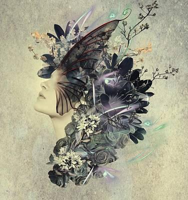 Digital Art - Lady Flora by Ali Oppy
