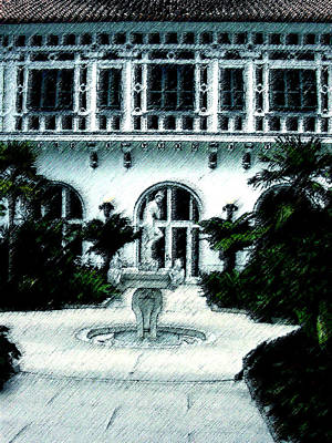 Lady Fountain Art Print