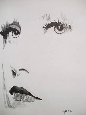 Lady Ga Ga Drawing - Lady Ga Ga 1 by Kenneth Regan