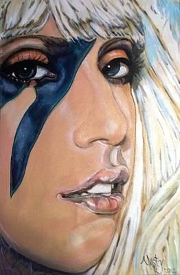 Gaga Painting - Lady Gaga 1 by Misty Smith