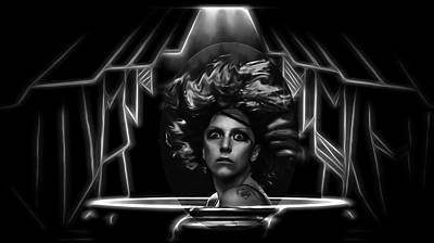 Digital Art - Lady Gaga - Applause by Ericamaxine Price