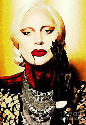 Lady Gaga As Elizabeth In American Horror Story Art Print