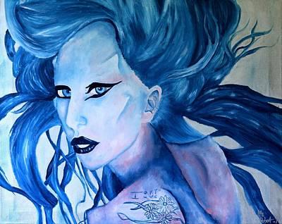 Gaga Painting - Lady Gaga Born This Way by Robert Hodgson