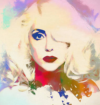 Lady Gaga Art Painting - Lady Gaga by Dan Sproul