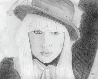 Drawing - Lady Gaga by Pat Moore
