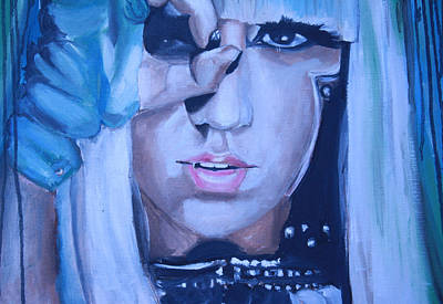 Gaga Painting - Lady Gaga Portrait by Mikayla Ziegler