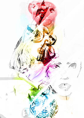 Gaga Digital Art - Lady Gaga by The DigArtisT
