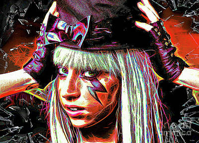 Digital Art - Lady Gaga by Tina LeCour