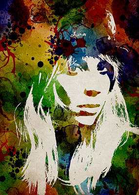 Lady Gaga Watercolor Art Print by Mihaela Pater