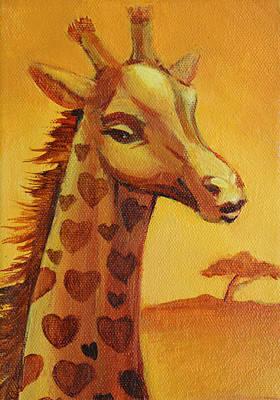 Bates Painting - Lady Giraffe by Vanessa Bates