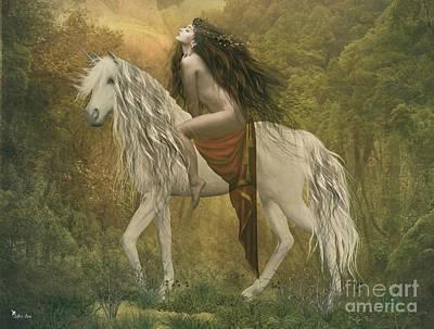Digital Art - Lady Godiva by Ali Oppy