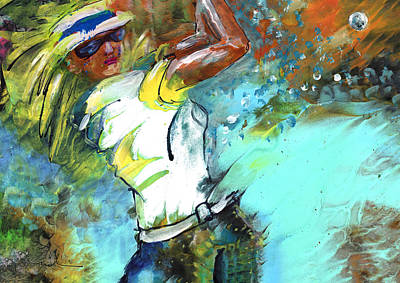 Painting - Lady Golf 01 by Miki De Goodaboom