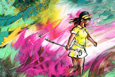 Painting - Lady Golf 03 by Miki De Goodaboom