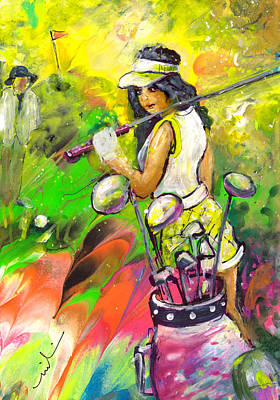 Painting - Lady Golf 05 by Miki De Goodaboom