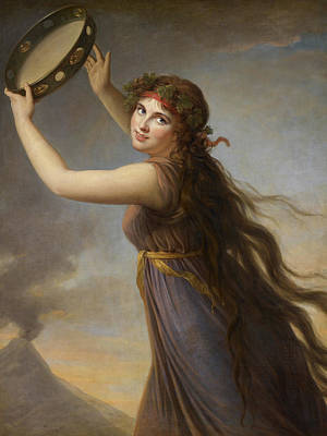 Lady Hamilton, As A Bacchante Art Print by Elisabeth Louise Vigee-Lebrun