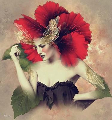 Digital Art - Lady Hibiscus by Ali Oppy