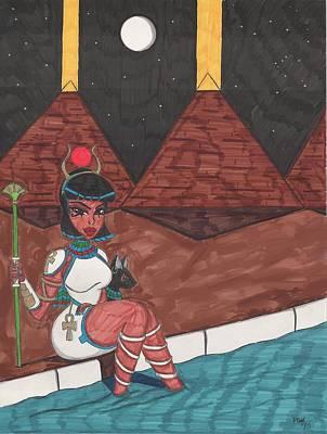 Egyptian Goddess Isis Mixed Media - Lady I by Ronald Woods
