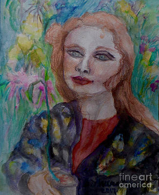 Painting - Lady In A Chinese Robe by Barb Greene mann