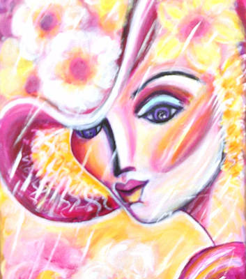 Painting - Lady In A Flower Hat by Anya Heller