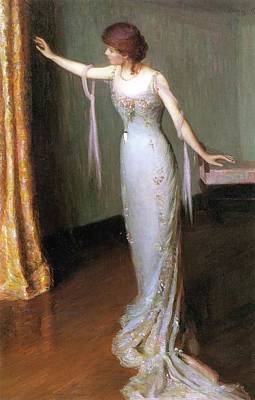 Lady In An Evening Dress Art Print