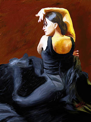 Passionate Painting - Lady In Black by James Shepherd