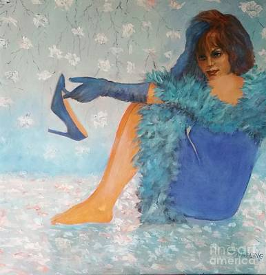 Painting - Lady In Blue by Dagmar Helbig